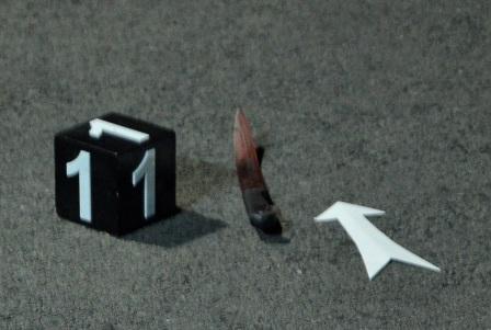 Con dao mà Sơn bỏ lại tại hiện trường sau khi gây án