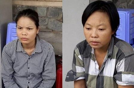 Nguyễn Thị Thùy Linh (trái) và