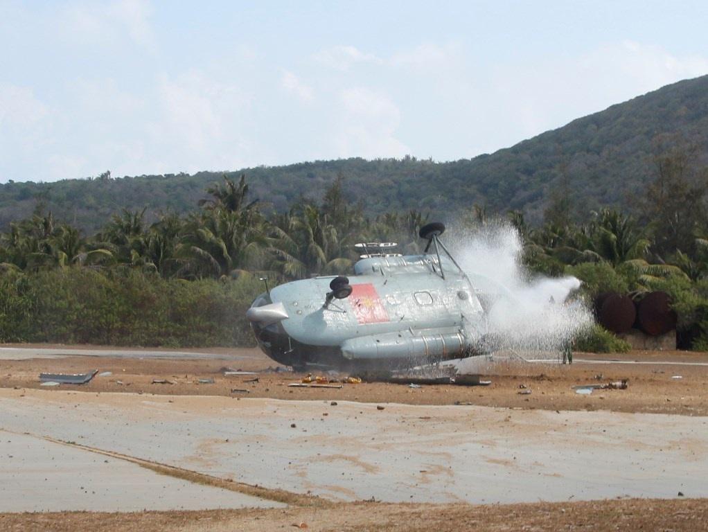 Hiện trường chiếc trực thăng Mi 8 gặp nạn