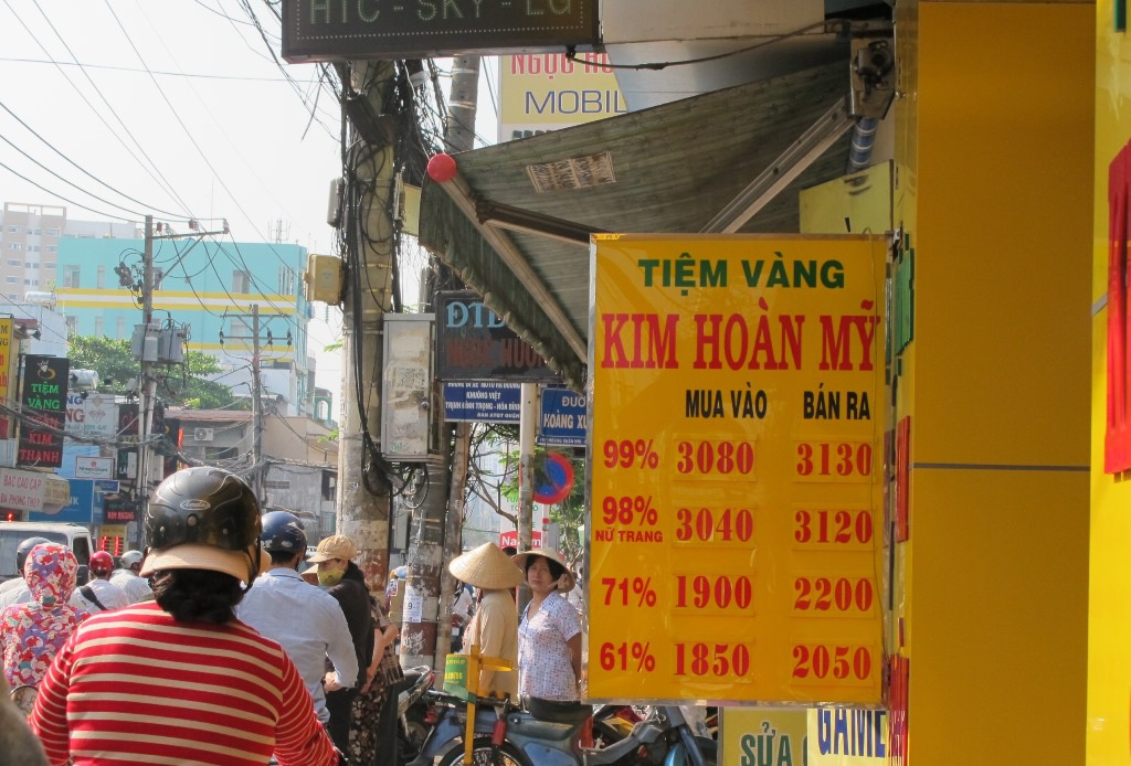 Tiệm vàng Kim Hoàn Mỹ nơi xảy ra vụ cướp