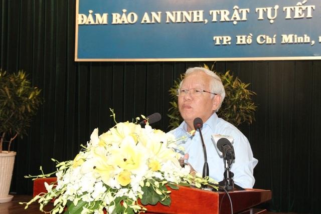 Thiếu tướng Phan Anh Minh, Phó Giám đốc Công an TPHCM phát biểu tại hội nghị