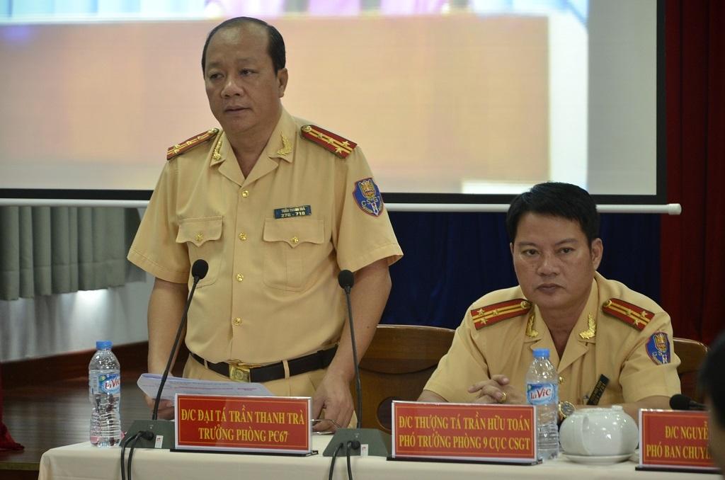 Đại tá Trần Thanh Trà nêu ý kiến tại buổi tọa đàm