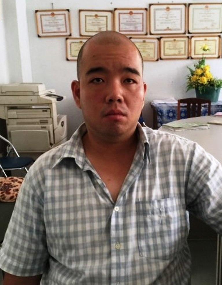 Nghi can Chuah Chow Fay tại cơ quan công an