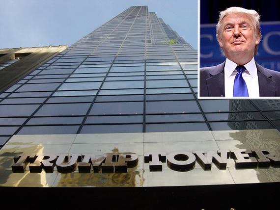 Tháp Trump tại New York, một trong những tòa nhà thuộc sở hữu của tỷ phú Trump (Ảnh: Real Deal)