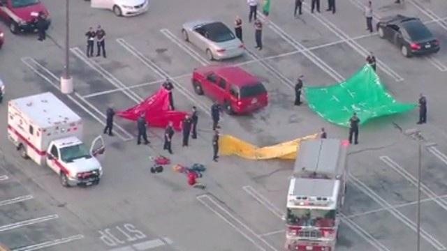 Hiện trường vụ nổ súng tại Houston ngày 26/9 (Ảnh: Kvia)