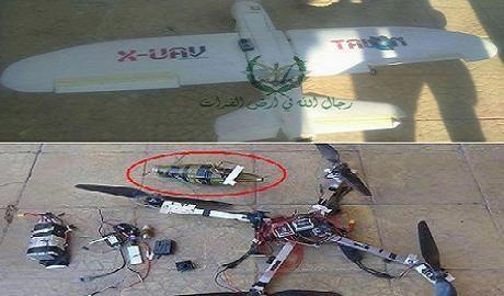 Các loại UAV tấn công cảm tử của IS gắn đầu đạn RGP-7 bị bắn hạ ở Deir ez-Zor