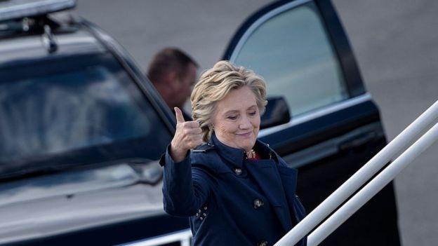 Bà Clinton đang dẫn trước trong các cuộc thăm dò dư luận (Ảnh: Getty)