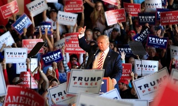 Trump vận động tranh cử ngày 18/10, một ngày trước cuộc tranh luận thứ 3. (Ảnh: Getty)
