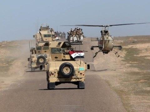 Binh sỹ Iraq tiến vào giải phóng Mosul