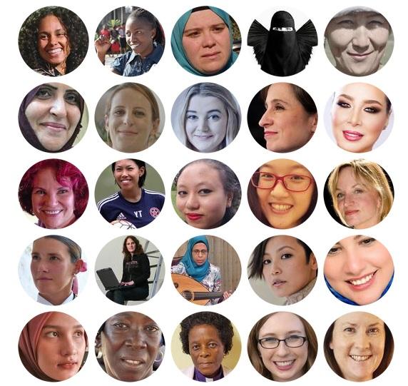 Một số phụ nữ trong danh sách 100 phụ nữ của BBC (Ảnh: BBC)