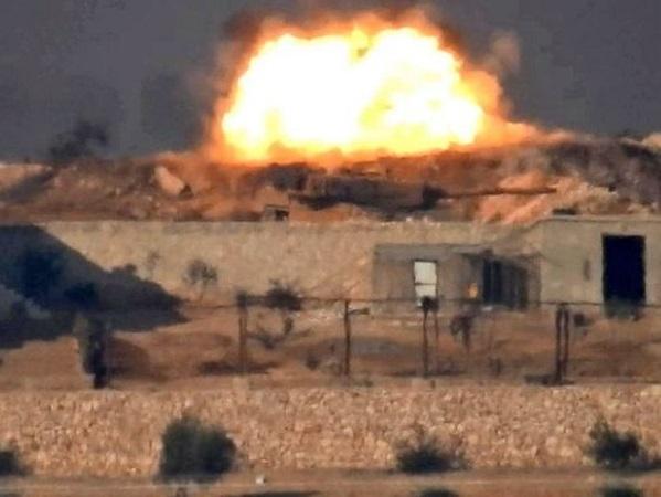 IS đăng tải hình ảnh tiêu diệt xe tăng Thổ Nhĩ Kỳ