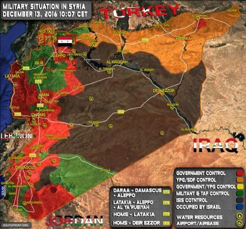 Định hình chiến trường Syria sau chiến thắng Aleppo.