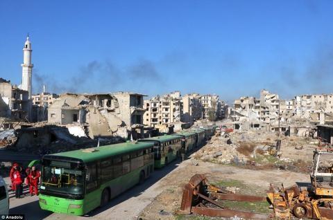 Nửa vạn phiến quân rời Aleppo cùng tuyên bố của Putin - 10