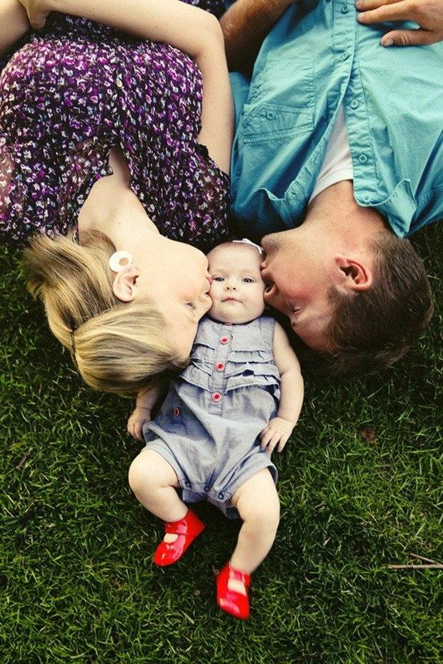 Bức ảnh cùng đứa con đầu lòng.