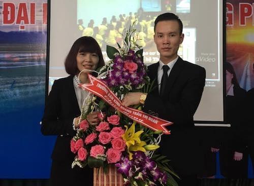 Trần Thị Đoan cùng Trần Văn Hạnh đều là nhân sự cao cấp của hệ thống đa cấp Liên Minh tiêu dùng tại Phú Thọ (Ảnh cơ quan công an cung cấp).
