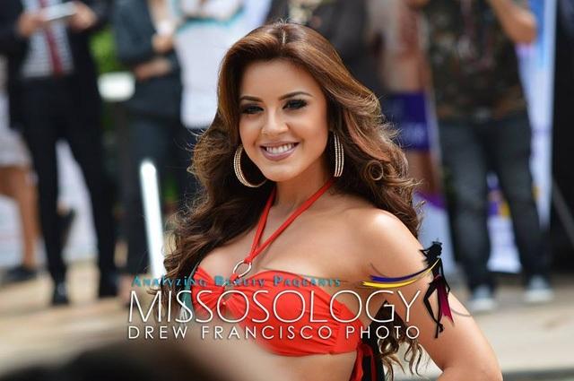 Hoa hậu Ecuador đang đáng đầu bảng xếp hạng tổng soát huy chương của hoa hậu trái đất 2016.