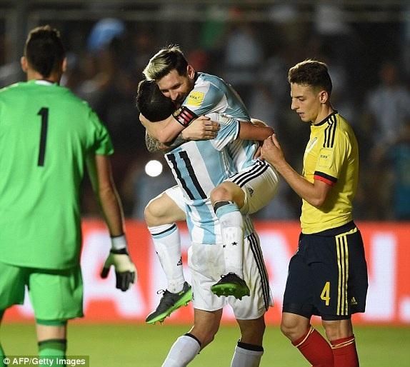 Niềm vui chiến thắng của các cầu thủ Argentina