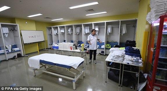 Phòng thay đồ của các cầu thủ Real Madrid