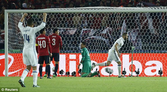 Benzema mở tỷ số cho Real Madrid từ khá sớm