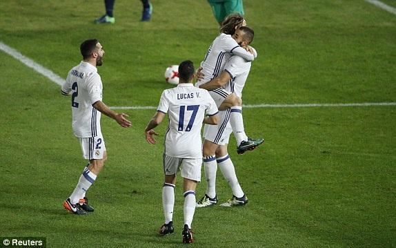 Niềm vui của các cầu thủ Real Madrid