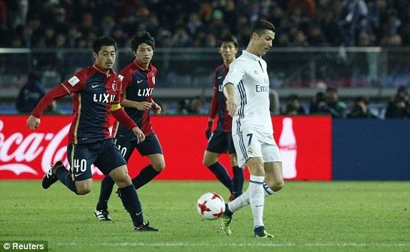 C.Ronaldo chơi khá vô duyên ở trận đấu này