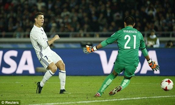 Tình huống C.Ronaldo nâng tỷ số lên 3-2 cho Real Madrid