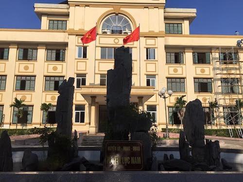 Trự sở UBND huyện Lục Nam nơi PV Dân trí liên hệ những vẫn chưa thể gặp được lãnh đạo UBND huyện trao đổi về những sai phạm liên quan đến công tác quản lý đất đai tại huyện này.