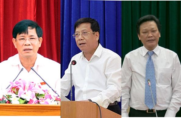 Từ trái sang, các ông Huỳnh Minh Chắc, Trần Lưu Hải, Nguyễn Duy Thăng.