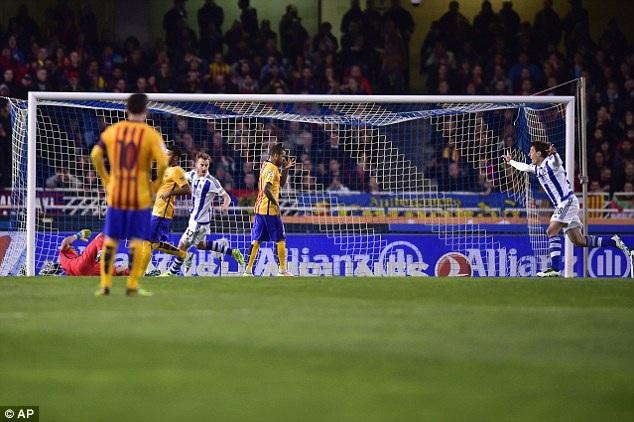 Messi đã thua cả 3 trận trong những lần đến Anoeta gần đây nhất