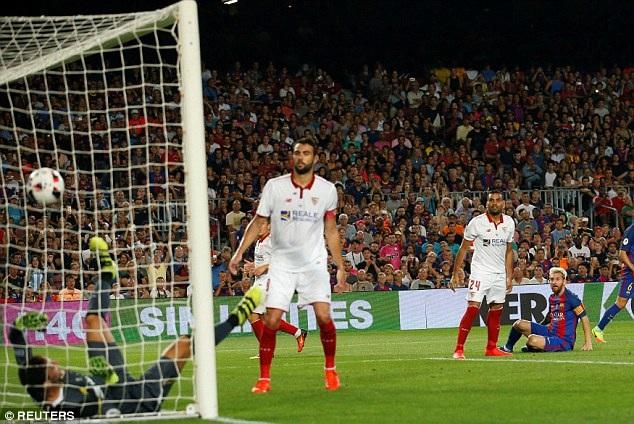 Barcelona đã thắng Sevilla tổng tỷ số 5-0 ở Siêu Cup Tây Ban Nha năm nay