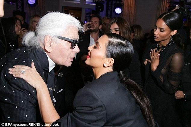 Kim Kardashian và nhà thiết kế danh tiếng - Karl Lagerfeld