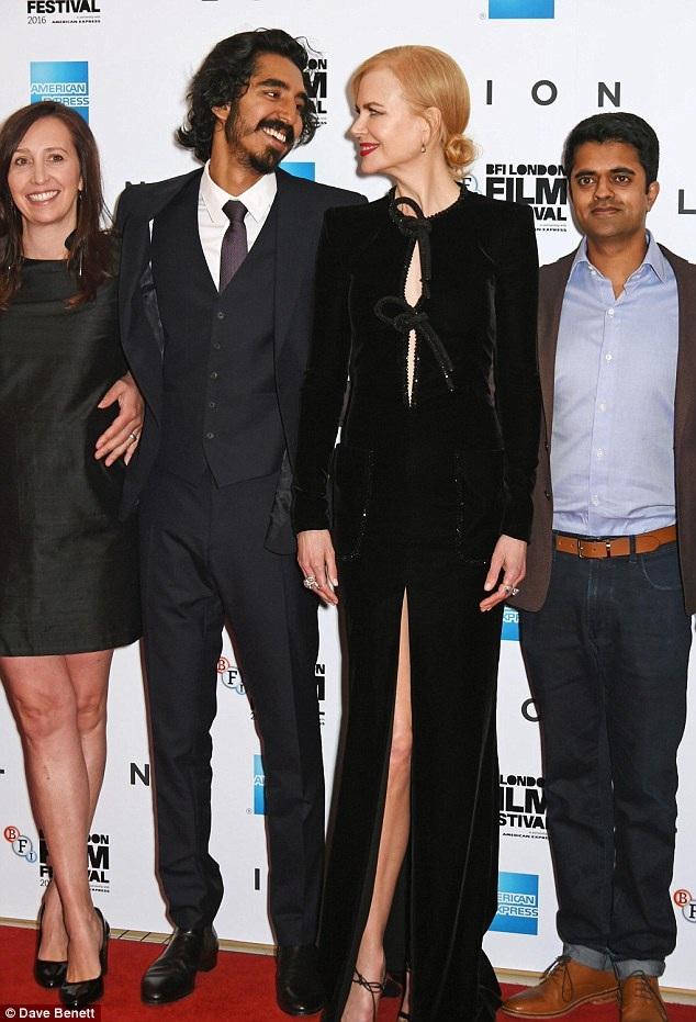 Ngôi sao nước Úc cùng các đồng nghiệp có mặt tại Anh lúc này để tham dự liên hoan phim BFI London năm 2016.
