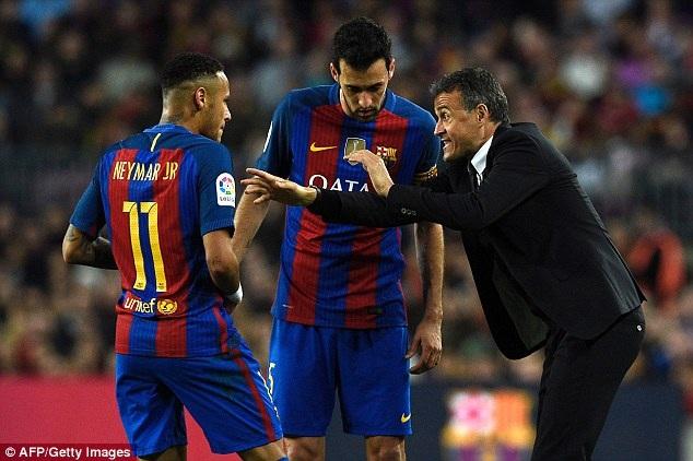 Sự thất vọng của HLV Enrique với Neymar và Busquets