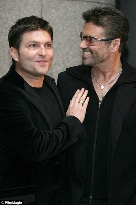 George và doanh nhân Kenny Goss, người bạn trai cũ và được ông xem là tình yêu lớn nhất đời.