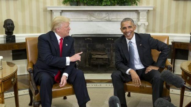 Ông Obama đã ủng hộ mạnh mẽ bà Clinton trong chiến dịch vận động tranh cử và từng nói rằng ông Trump không thích hợp cho vị trí tổng thống.