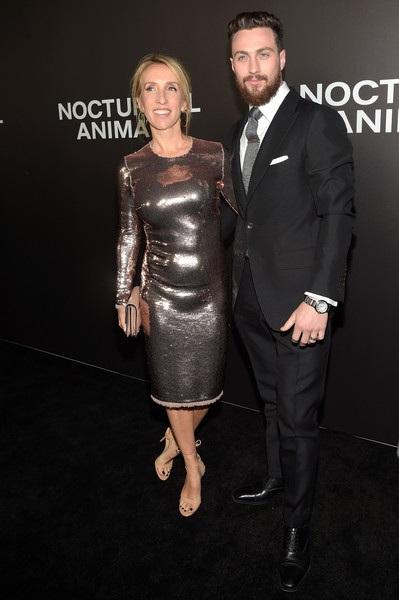 Aaron Taylor-Johnson đưa vợ dự công chiếu phim mới Nocturnal Animals tại New York ngày 17/11 vừa qua