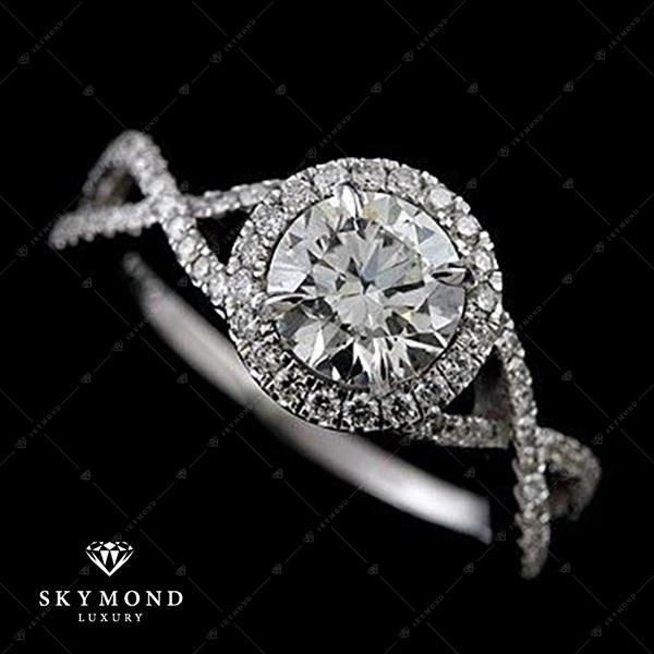 Sự kết hợp hoàn mỹ của bạch kim và kim cương tự nhiên