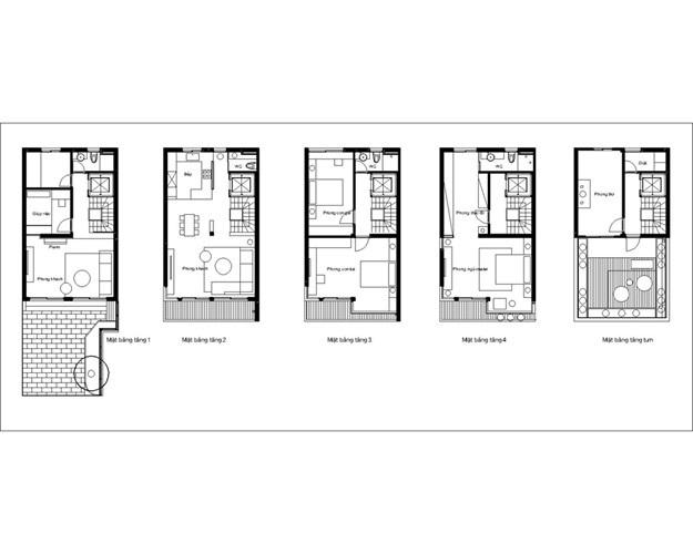 Các KTS đã thiết kế lại trên diện tích xây dựng 280m2 của 5 tầng nhà theo tiêu chí hiện đại, làm nổi bật nhiều ưu điểm của công trình.