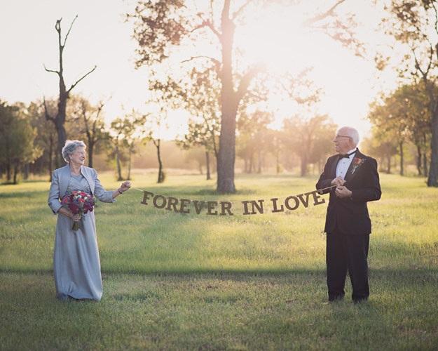 Cặp vợ chồng chờ 70 năm để được chụp ảnh cưới - 1