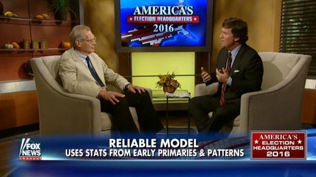 Ông Helmut Norpoth trong một cuộc trả lời phỏng vấn chương trình của Fox News. (Ảnh: Fox News)