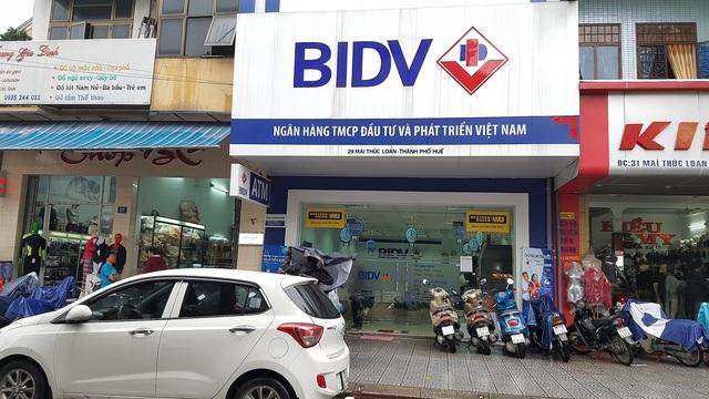 BIDV Mai Thúc Loan, TP Huế - Nơi vừa xảy ra vụ cướp táo bạo mất hơn 700 triệu đồng.