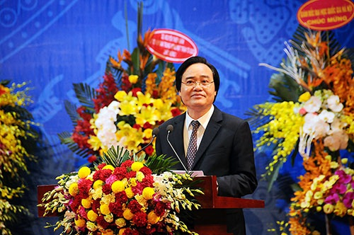 Bộ trưởng Phùng Xuân Nhạ phát biểu tại buổi lễ