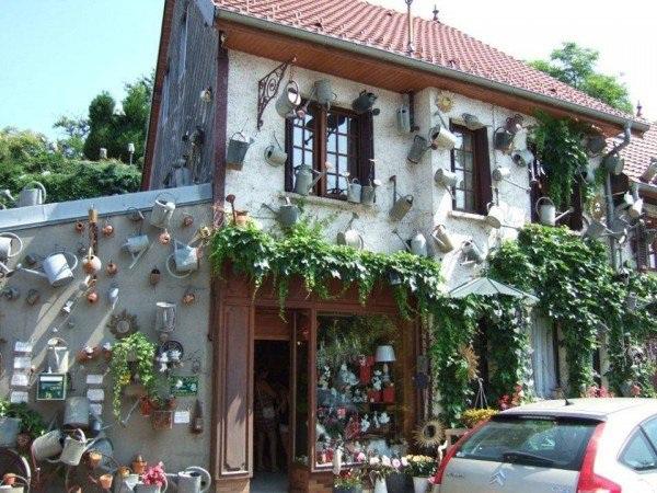 Độc đáo tiệm hoa được trang trí bằng toàn bình tưới - 4