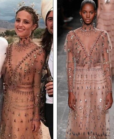 Dianna diện chiếc váy điệu đà giá hơn 10 nghìn bảng của Valentino
