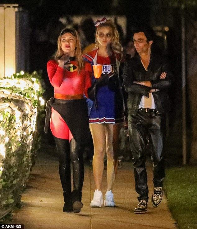 Nữ diễn viên Kate Hudson đi chơi cùng bạn trai cũ Matt Bellamy và bạn gái mới của anh này - Elle Evans