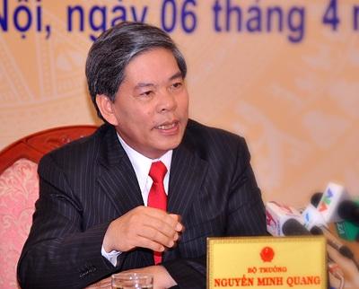 Nguyên Bộ trưởng Tài nguyên - Môi trường Nguyễn Minh Quang.