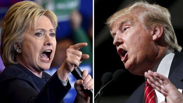 Hai ứng viên Hillary Clinton và Donald Trump (Ảnh: BBC)