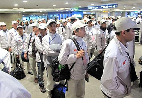 Lao động VN chờ xuất cảnh sang Hàn Quốc (Ảnh: TL)