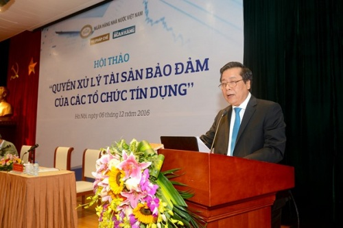 Phó Thống đốc NHNN Nguyễn Kim Anh phát biểu khai mạc hội thảo