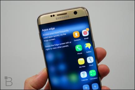 Samsung đầu tư rất nhiều vào công nghệ Super AMOLED. Điển hình là Galaxy S7 Edge.